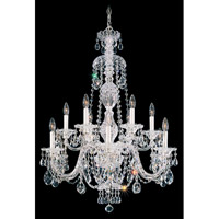 Schonbek Sterling 12 Light Chandelier in Silver and Crystal Swarovski Elements Trim 2997-40S